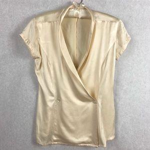 Anne Klein II 100% Silk V-Neck Crisscross Blouse 2